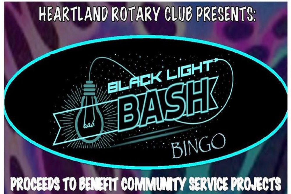 Beautiful MARION CHAMBER OF MERCE Heartland Rotary Black Light Bash Bingo to be held August 24 Plan - Fresh black light show New Design