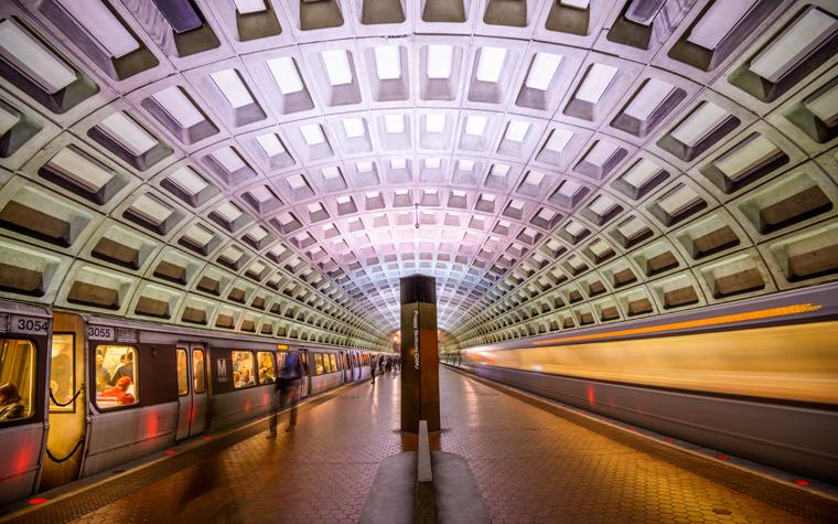 A D.C. commuter-rail station