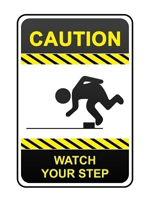 Large caution sign