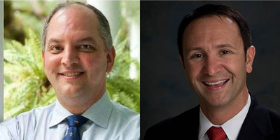 Louisiana Governor John Bel Edwards and Louisiana Attorney General Jeff Landry.