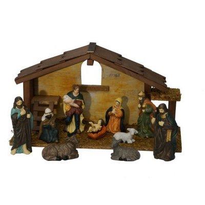 Holiday Time Christmas Decor 12-Piece Composite Nativity Set