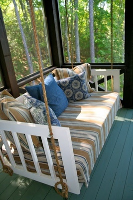 Make sure to consider measurements before buying a hanging daybed.