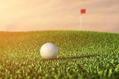 Medium golf turf