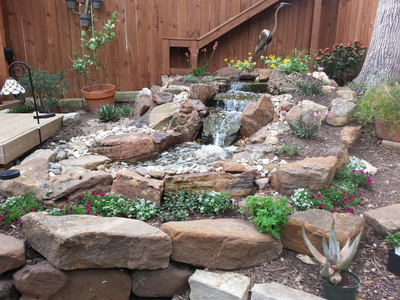 A water feature can add natural flair to your landscape.