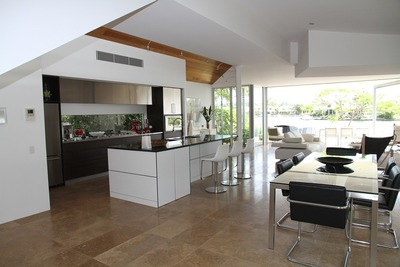Glass walls are becoming more common in everyday homes.