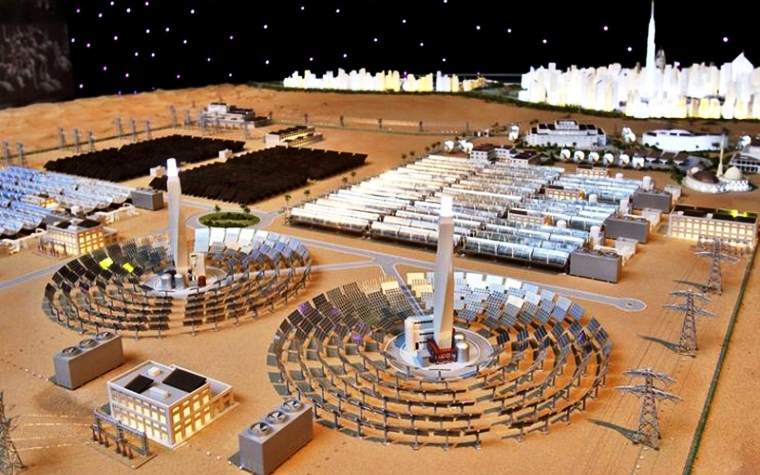 The sustainable solar park serves as an example of Dubai's clean energy position.