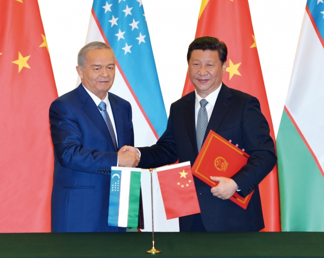 President of the Republic of Uzbekistan Islam Karimov and President of the People's Republic of China Xi Jinping