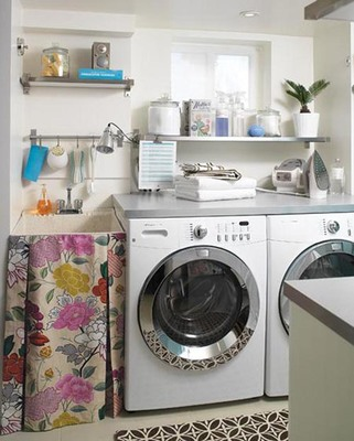A well-organized laundry room is not only functional, but also aesthetically pleasng.