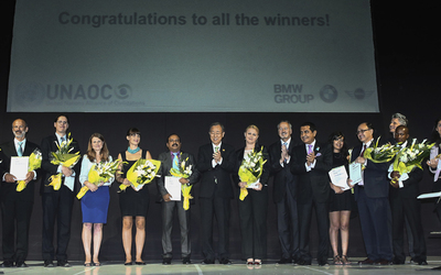 Winners from a previous Intercultural Innovation Award Ceremony.