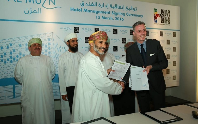 HMH- Hospitality Management Holdings will control Corp Muscat Al Muzn Hotel under a newly signed agreement with Muzn Oman Commercial.