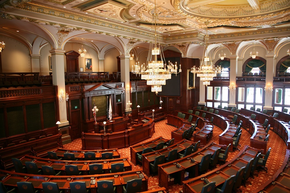Floor of the Illinois State House