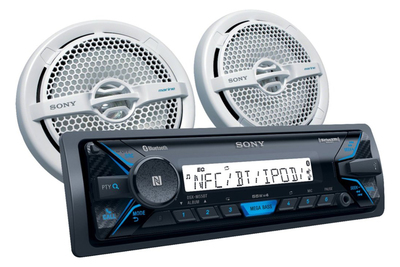 This receiver picks up AM/FM stations, satellite radio or runs playlists off a smartphone.