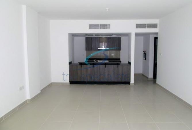Part of the living space in the 1,300-square-foot apartment in Al Reef Downtown