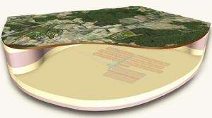 An artist's rendering of the proposed Cigéo nuclear waste-site roject in France.