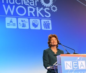 Sen. Lisa Murkowski (R-AL) addresses the Nuclear Energy Institute's annual conference.