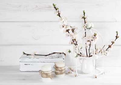 Shabby chic doesn't have to extend to all your furniture; try sprinkling it into an otherwise more traditional or modern backdrop.