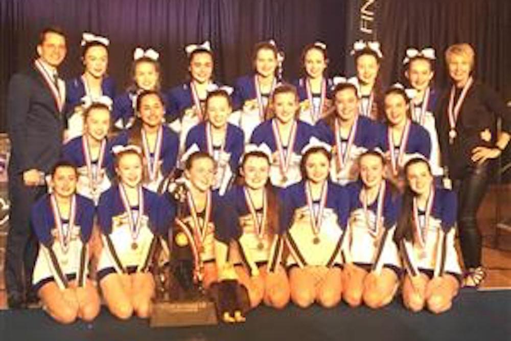 Columbia High cheerleaders on a roll