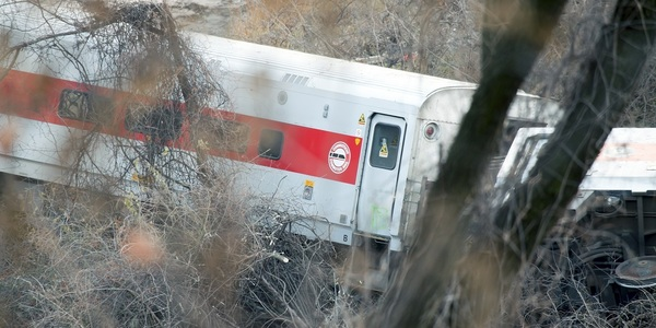 Image from the Metro-North train derailment that killed and injured dozens near Spuyten Duyvil Station Dec. 1, 2013, in the Bronx, New York.