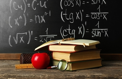 Medium apple chalkboard
