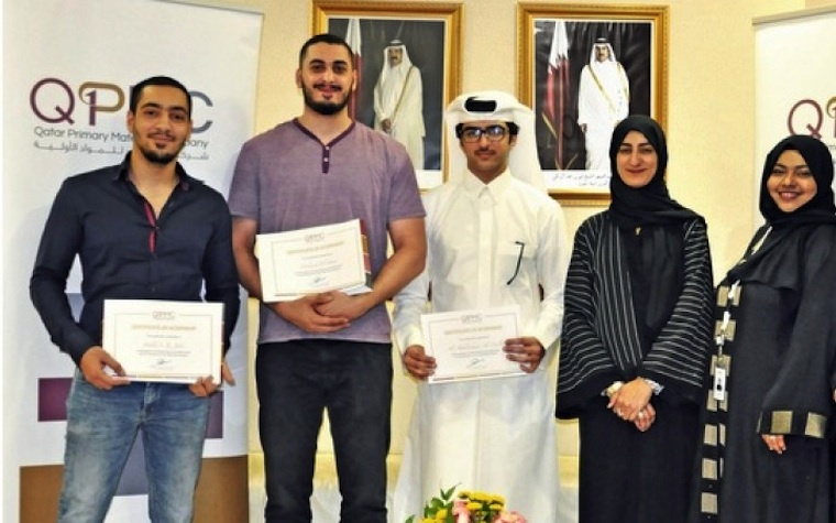 Qatar University students recently completed summer internships at Qatar Primary Materials Company.