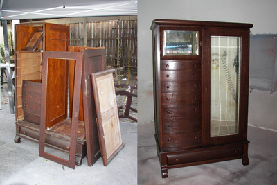 Even a damaged piece of heirloom furniture can be brought back to life.