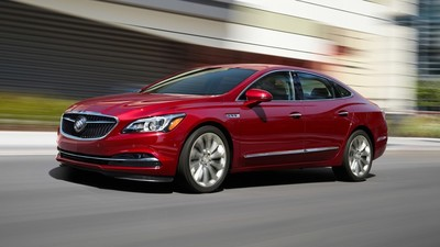 Among the Buick LaCrosse's safety features is the Lane Change Alert with Side Blind Zone.