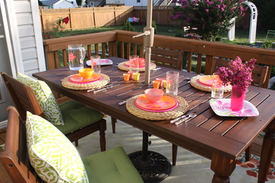 When buying wood patio furniture, make sure it will hold up well in the hot months.