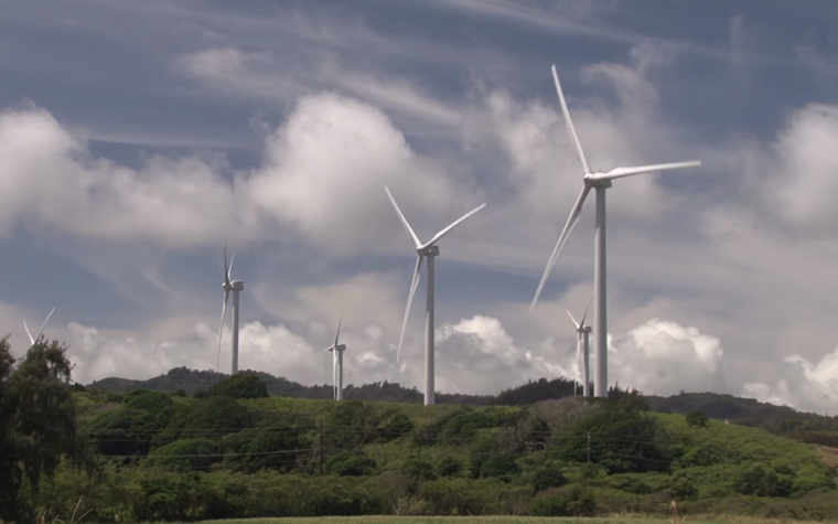 This still shows wind turbines during AASHTO's Earth Day video.