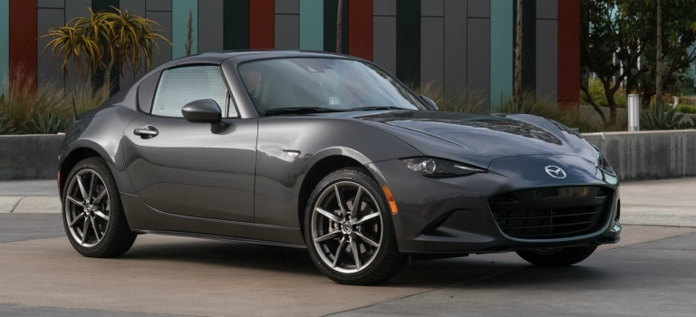 The 2018 MX-5 Miata RF is a stylish sports car where form and function mix well.