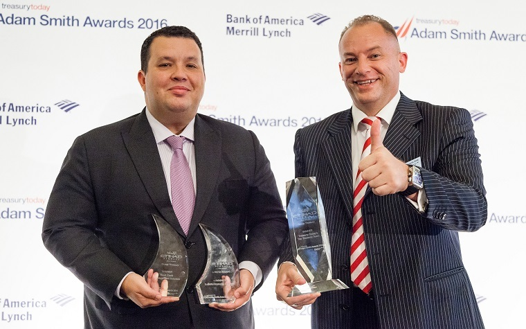 Ricky Thirion (right), group treasurer at Etihad Airways