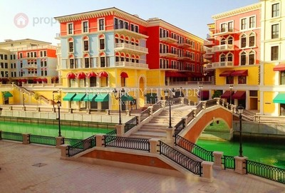 Qanat Quartier is inspired by Venice, Italy.