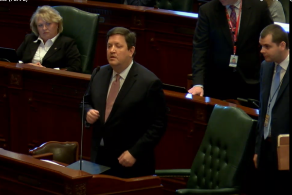 State Rep. David McSweeney (R-Barrington Hills) has implored Gov. Rauner to veto the budget deal and was one of few legislators to cast a vote against it.