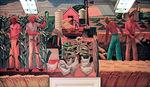 """""""Texas Farm,"""" a mural created by Julius Woeltz in 1940, hangs in Elgin's post office."""