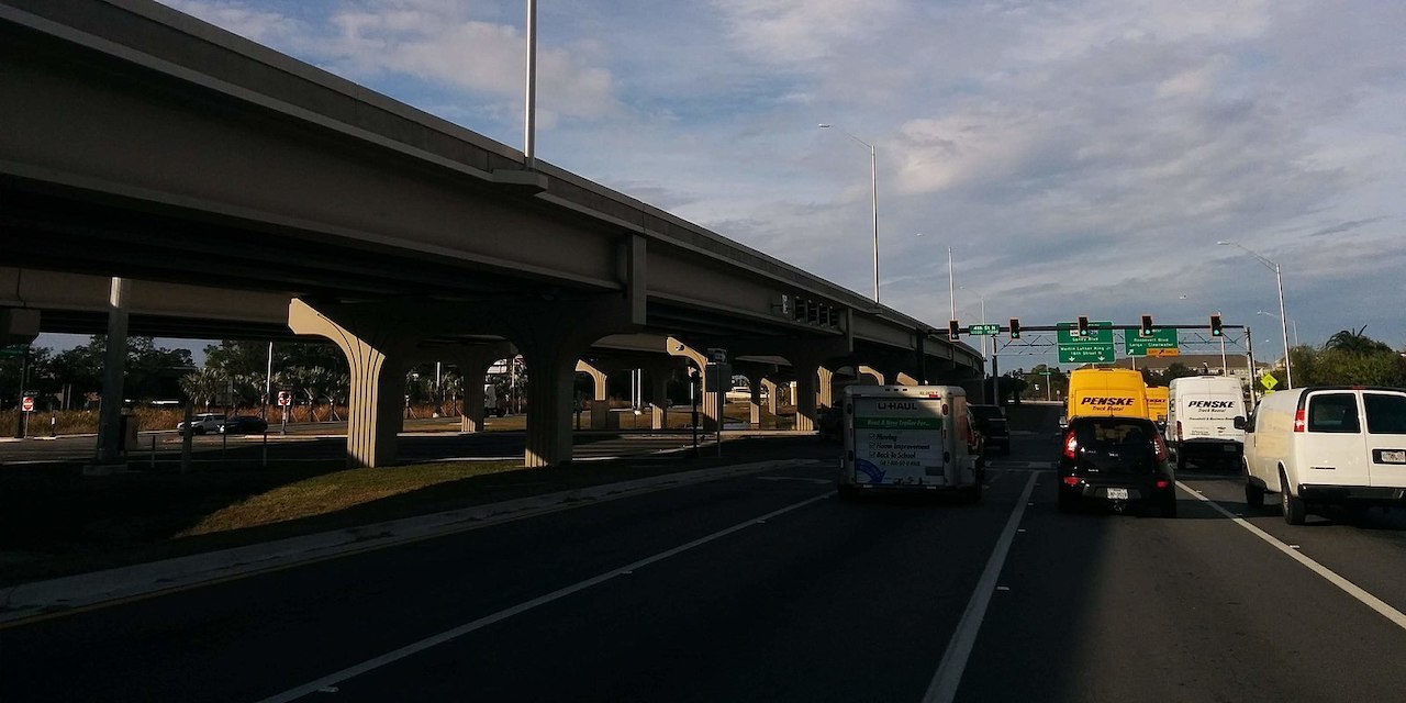 Gandy freeway overpasses at 4th st n