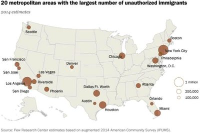 Medium sanctuary cities by pew
