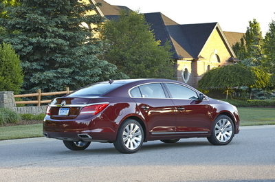 The Buick LaCrosse includes a wide range of standard features such as an in-car Wi-Fi hot spot, dual-zone automatic climate control, an 8-inch touchscreen and a backup camera.