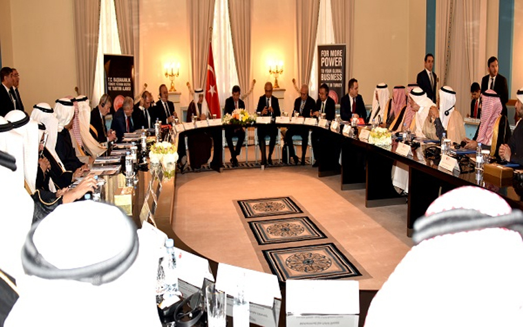 Turkey's prime minister recently met with Saudi investors.