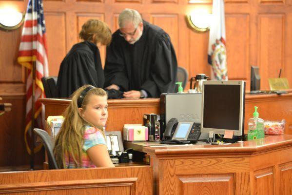 Child judge: Isaac Strother  Child clerk: Alexis Castelli