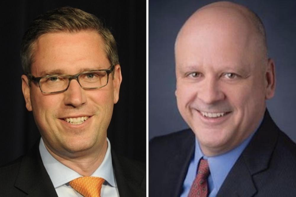Michael Frerichs, left, and Jim Dodge