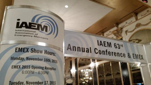 Robinson sworn in as IAEM-USA president.