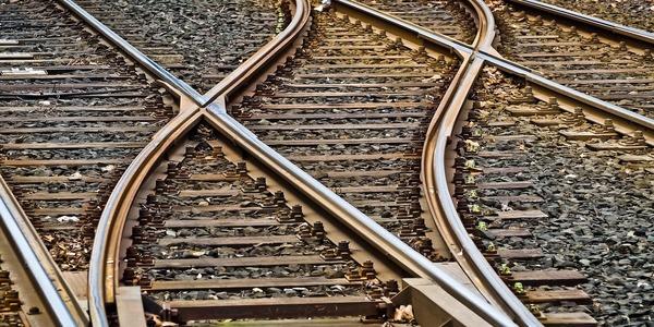 Large railroadtracks