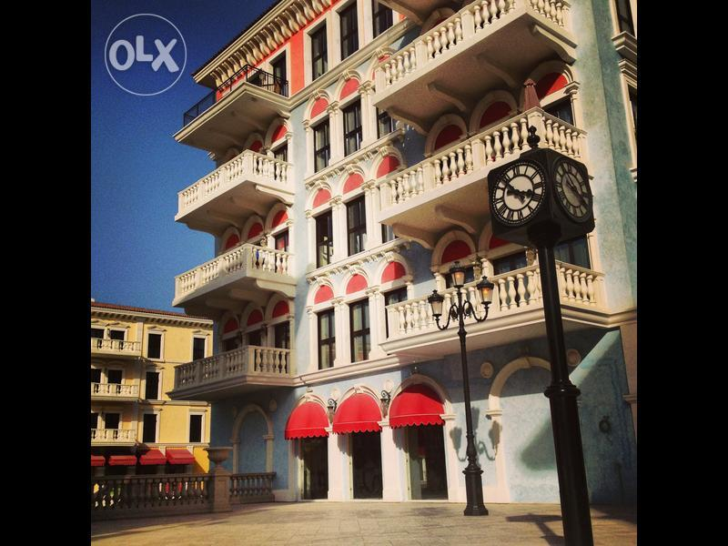 A three bedroom, three bathroom apartment is available in Qanat Quartier at The Pearl.