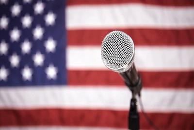 Medium microphonwusflag