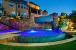 The spectacular exterior mixes poolside luxury with architectural delight.