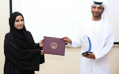 A motivational speaker recently inspired Ajman University student council members.