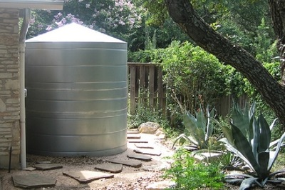 A rainwater-collection system