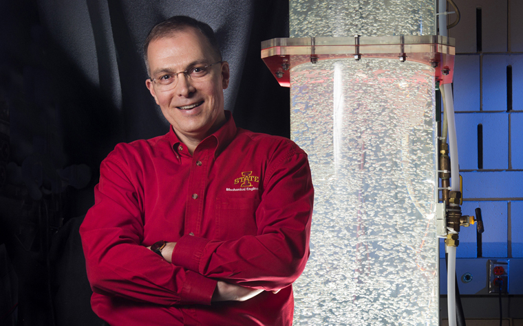 Iowa State's Ted Heindel will research spray physics as part of a Department of Defense project.