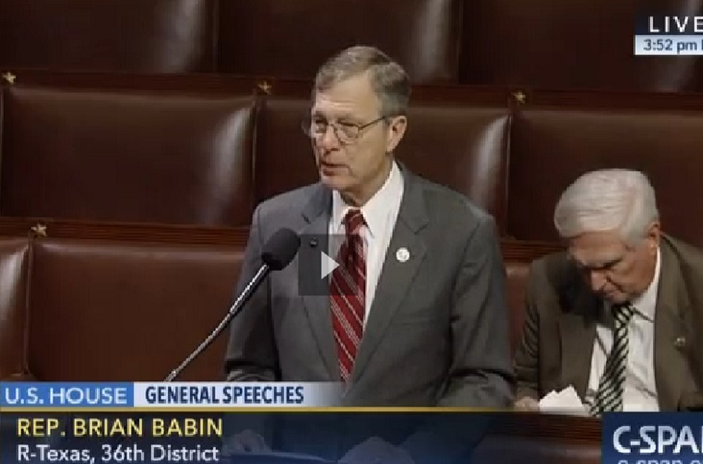 Rep. Brian Babin speaks in favor of HR 1316 on the U.S. House floor.