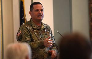 CBRNE commander speaks at defense association event.