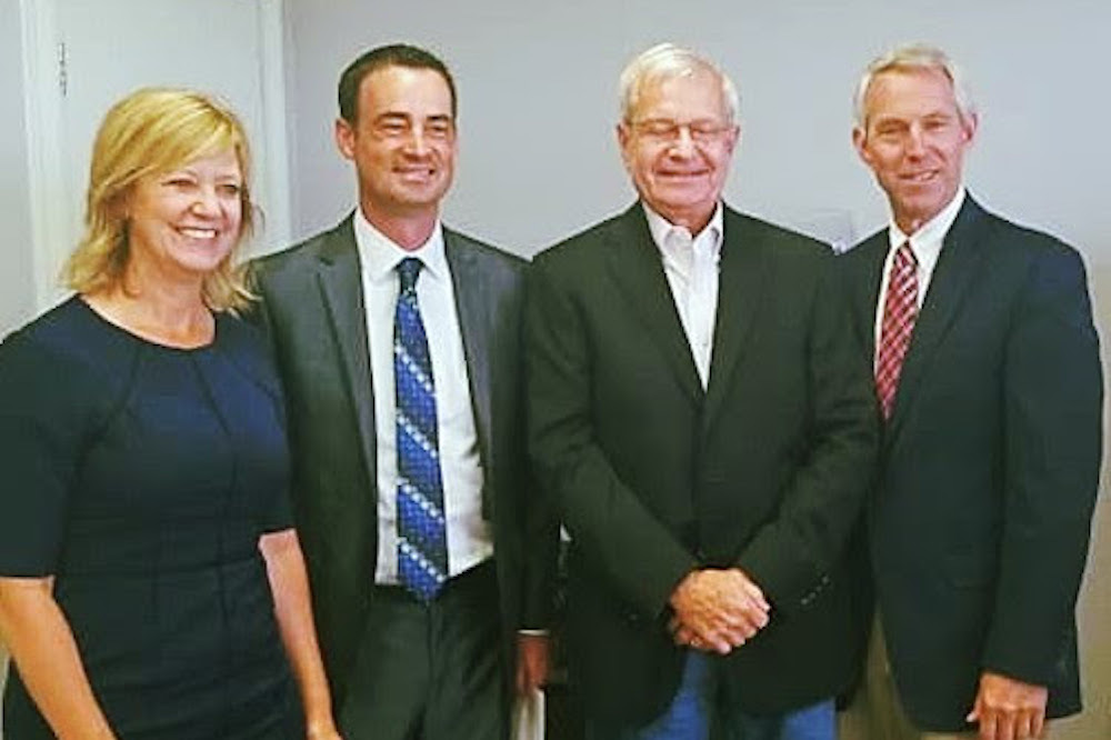 (From left) Rep. Jeanne Ives, Blaine Wilhour, Dwight Kay and Rep. Brad Halbrook